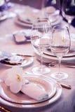 restauracyjni puści szkła Zdjęcia Stock