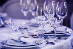 restauracyjni puści szkła Obrazy Royalty Free