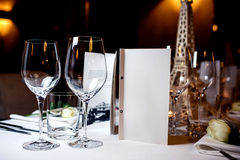 restauracyjni puści szkła Obraz Stock