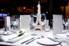 restauracyjni puści szkła Fotografia Royalty Free