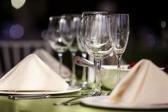 restauracyjni puści szkła Zdjęcie Royalty Free