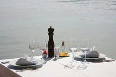 Restauracyjni stoły Zdjęcie Stock