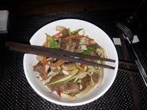restauracyjni wołowina kluski chińscy karmowi obrazy stock