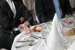 Restauracyjny biznesmena spotkanie Obraz Stock