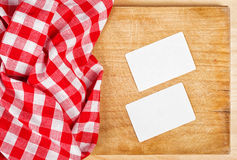 Restauracyjny Cook wizytówek szablon Obrazy Stock