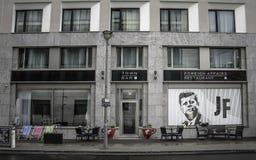 Restauracyjny ` Cudzoziemski - sprawy ` w Arcotel John F Berlin zdjęcia stock
