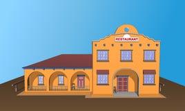 Restauracyjny cukierniany buduje Meksyk karmowy smakowity Frontowy widok Zdjęcia Stock
