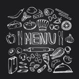 Restauracyjny cukierniany menu Obraz Stock