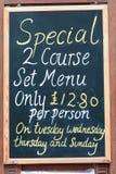 Restauracyjny dodatku specjalnego znak Zdjęcie Stock