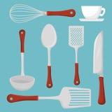 Restauracyjny i kuchenny dishware royalty ilustracja