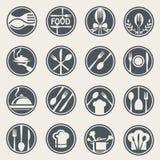 Restauracyjny ikona set royalty ilustracja