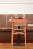 Restauracyjny iner stół Obrazy Royalty Free