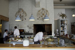 Restauracyjny kuchenny kulinarny szef kuchni Fotografia Stock