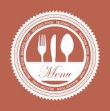 Restauracyjny menu Obrazy Stock