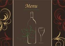 Restauracyjny menu Fotografia Stock
