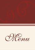 Restauracyjny menu Fotografia Royalty Free