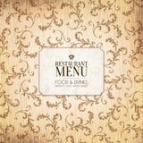 Restauracyjny menu projekt Obraz Royalty Free