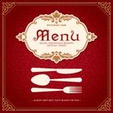 Restauracyjny menu projekta rocznika styl 2 Ilustracji