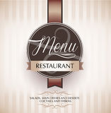 Restauracyjny menu projekta szablon Obraz Stock