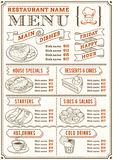 Restauracyjny menu szablon Obraz Royalty Free
