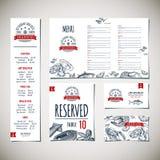 Restauracyjny menu szablon Ilustracja Wektor