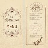 Restauracyjny menu szablonu ΠFotografia Royalty Free
