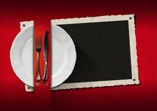 Restauracyjny menu z fotografii ramą Zdjęcia Royalty Free