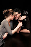 restauracyjny pary wino Obraz Royalty Free