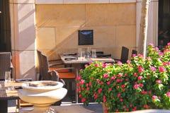 Restauracyjny patio Obrazy Stock