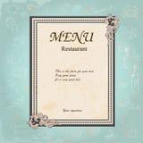 Restauracyjny projekt z Starą Kwiecistą ramą dla Fotografia Royalty Free