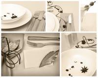 restauracyjny set Fotografia Stock