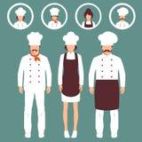 Restauracyjny szef kuchni ilustracja wektor
