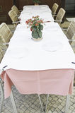 Restauracyjny tablecloth Obrazy Royalty Free