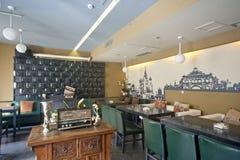 Restauracyjny Wewnętrzny projekt Zdjęcia Stock