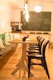 Restauracyjny wnętrze Obraz Royalty Free