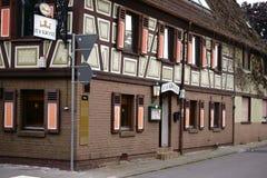 Restauracyjny Zur Krone Bischofsheim zdjęcia stock