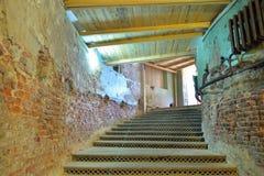 Restaurado abajo al sótano en el palacio grande de Gatchina Foto de archivo