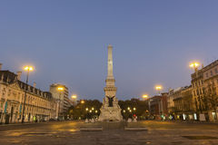 Restauradores Square in Lisbon in Portugal Stock Photography