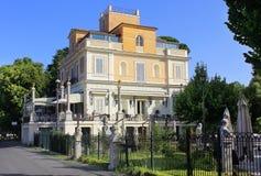 Restaurang Casina Valadier, villa Borghese, Rome Arkivfoton