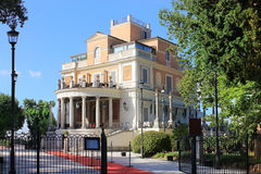 Restaurang Casina Valadier, villa Borghese, Rome Royaltyfri Fotografi