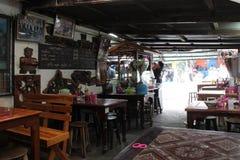 Restaurang - Chiang Mai - Thailand Royaltyfri Bild