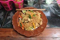 Restaurang - Chiang Mai - Thailand Royaltyfria Foton