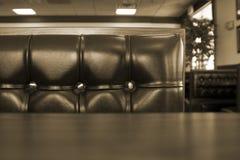 restaurang för båskromclose upp Arkivbild