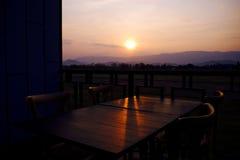 restaurang för bergsikt Royaltyfria Foton
