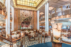 Restaurang för RMS Queen Mary 2 Britannia Royaltyfria Foton
