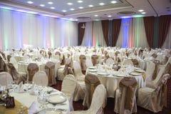 Restaurang för bröllop Arkivbilder