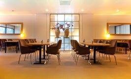 restaurang för möteställe Arkivfoto