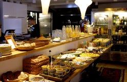 Restaurang för organisk mat Arkivfoto