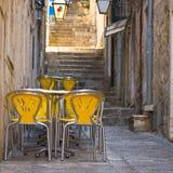 Restaurang i Dubrovnik, Kroatien Royaltyfri Foto