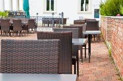 Restaurang i ett wellnesshotell Fotografering för Bildbyråer